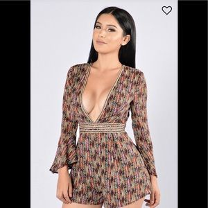 Romper with a Deep V